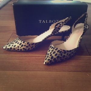 Talbots animal print heels